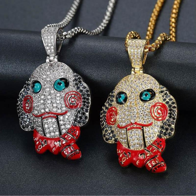 Clown Necklace Saw Clown Necklace Clown Jewelry Saw Halloween Gifts Halloween Gift Ideas Halloween Jewelry Halloween Clown Necklace
