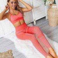 Sportwear Women Seamless Yoga Set High Waist Sports Suit Women Fitness Set Gym Clothing Jogging Femme Workout Clothes For Women