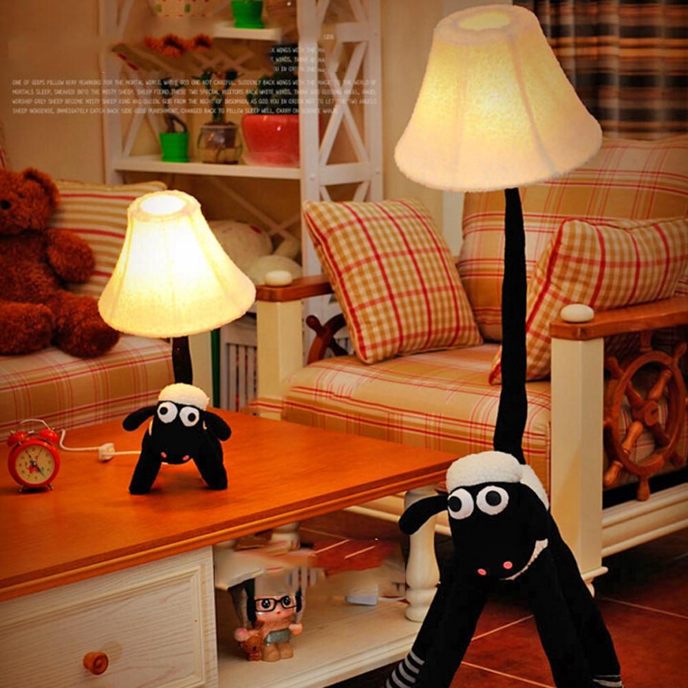 ФОТО High Quality Children Room Led Cartoon Kids Floor Lamp 110V-220V E27 Decor Standing Lamps Goat People Cartoon Led Floor Lamp