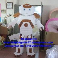 흰색 로봇 Automaton 마스코트 의상 성인 만화 캐릭터 복장 대형 크기의 교육 전시회 zx1947