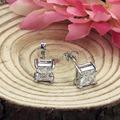 Square orecchini Zircon brincos love rose gold Silver crystal earings earring earing small famous brand earrings for women aros