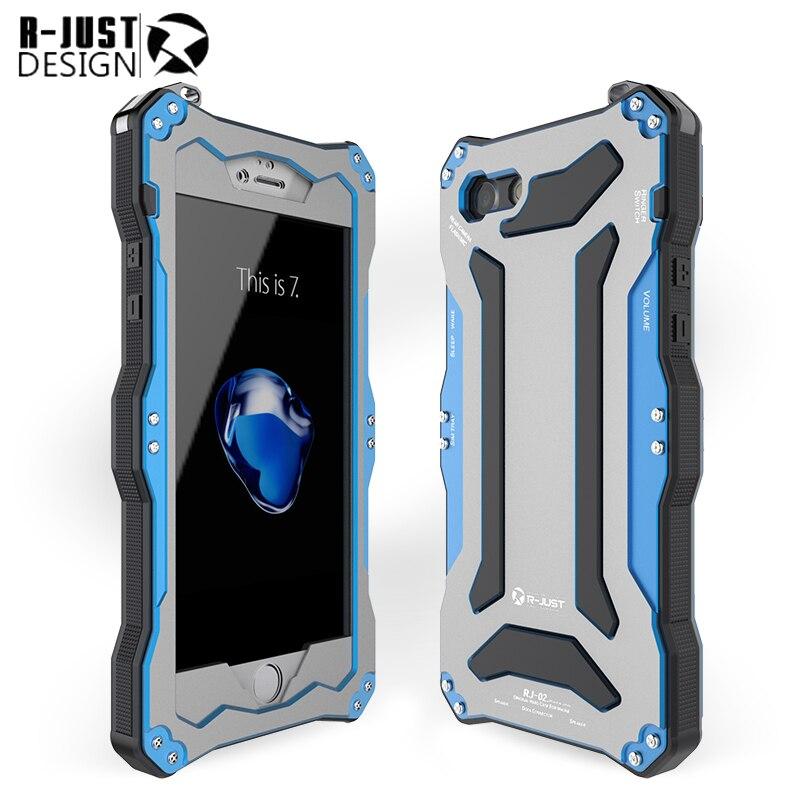 imágenes para Para el iphone 7 de 4.7 pulgadas Mobile suit Gundam Gorilla Glass resistente al agua a prueba de golpes casos para iphone7 teléfono del Metal de Aluminio Caso