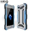 Para iphone 7 4.7 polegadas mobile suit gundam casos para iphone7 metal de alumínio gorilla glass à prova d' água à prova de choque caso de telefone