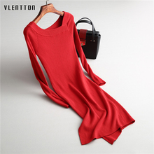 Winter Women Sweater Dress 2017 Long Sleeves Fashion Elegant Pink Dresses Sexy Party Bodycon Femme O-Neck Long Dress burgundy chimney collar long sleeves bodycon hem ribbed sweater dress