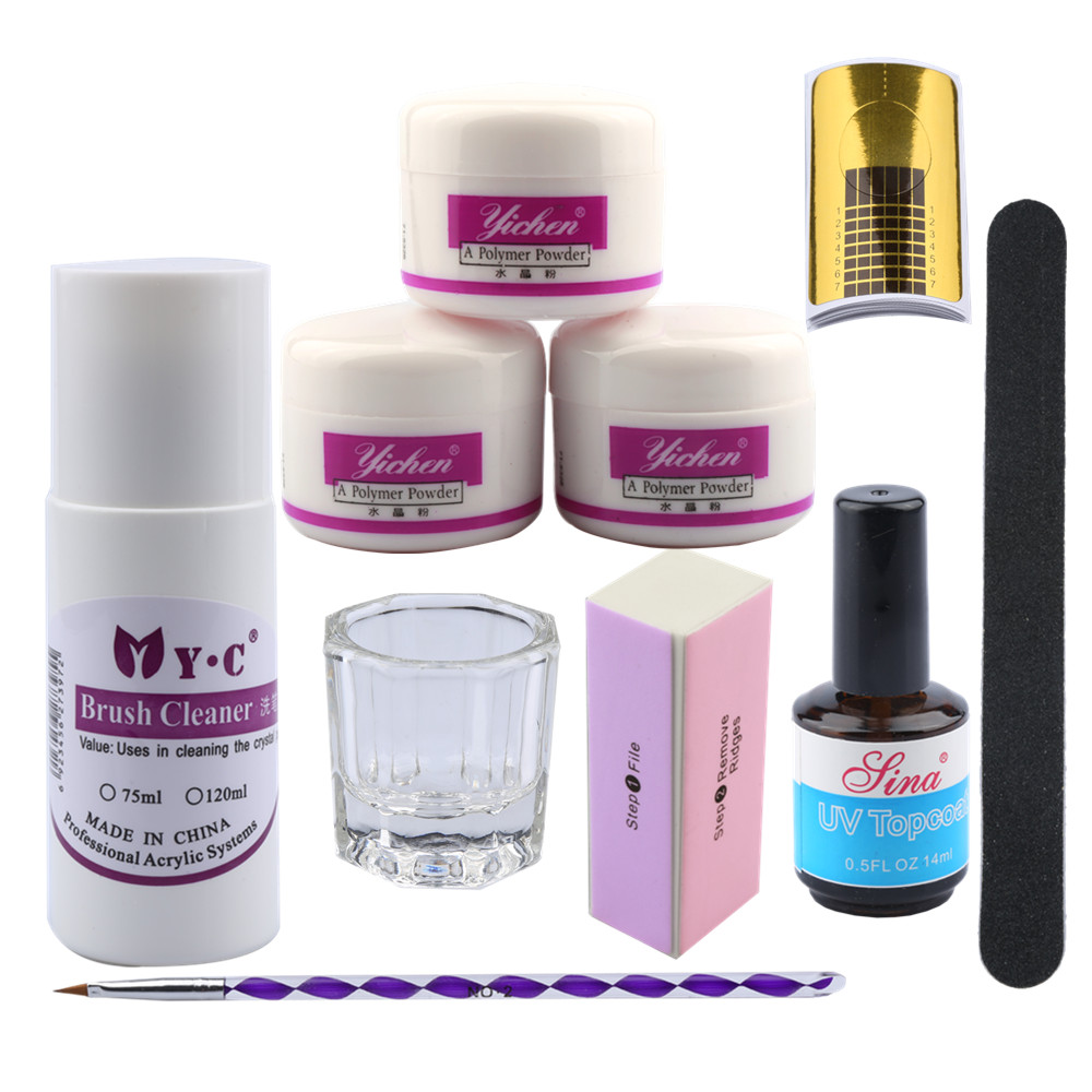Acrylic Powder Manicure Nail Kit 75ml Acrylic Liquid Nail Kit French ...