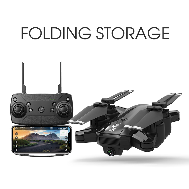 Quadcopter HR folding drone GPS dual intelligent precise positioning returning gestures photo recording remote control aircraft-in RC Helicopters from Toys & Hobbies