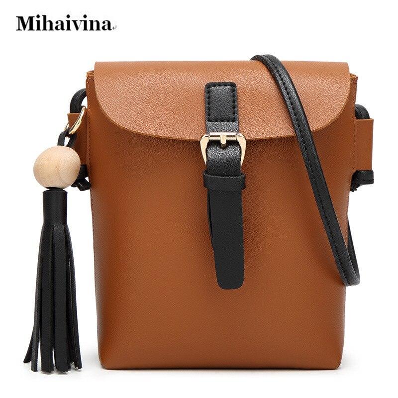 Hot Sale Bucket Women Bag PU Leather Handbags Fashion Designer Black Cross Body Shoulder Bags Tassel Women Messenger Flap Bag