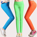 Women summer spring candy color plus size East Knitting high waist casual leggings lady oversized  fall stretch pants QC