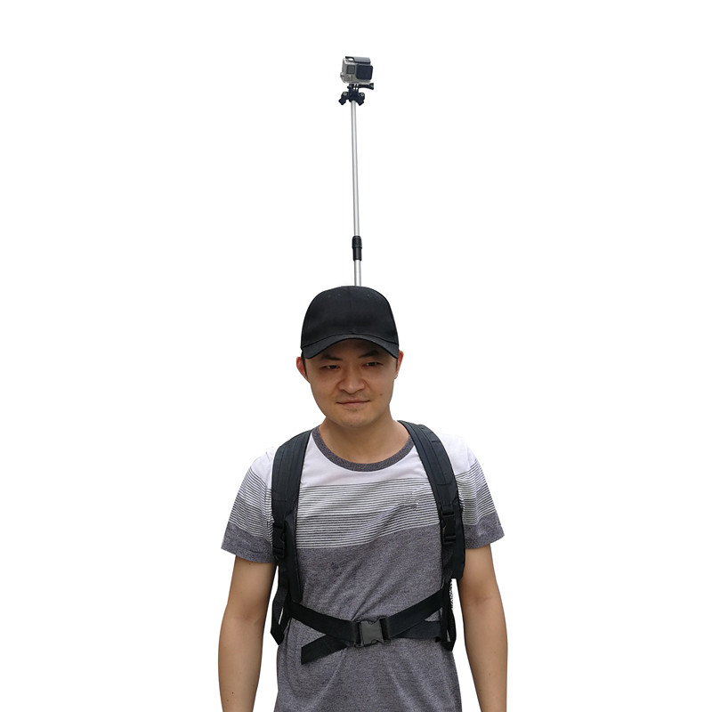 3rd Person View Mount   Wearable Handsfree Backpack Body Mounted POV Camera Selfie Stick Pole for Gopro Action Camera-in Selfie Sticks from Consumer Electronics    2