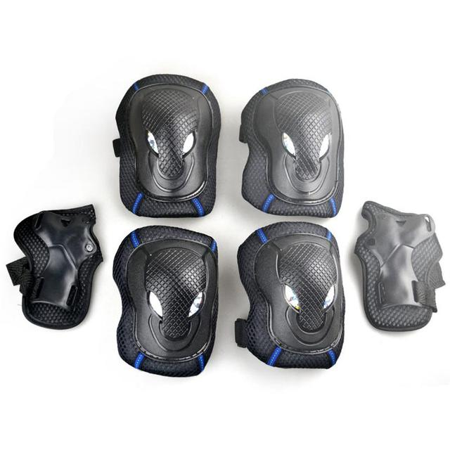 Adult skating protective gear suits shilly-car balanced car brace six sets of knee pads and elbow pads thicker ice skating