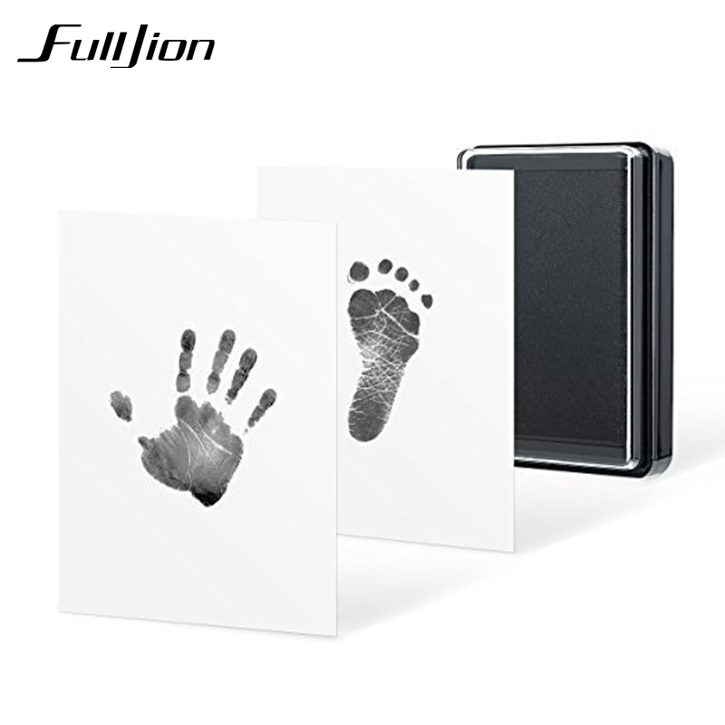Fulljion Slime Modeling Clay Toys Baby Handprint Kit Footprint Souvenir Gifts For Infant Toddler Non-Toxic Clean-Touch Ink Pad infant baby children handprint footprint white contracted hanging wall photo frame christmas gifts for children scale 3 5
