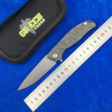 GREEN THORN T-Pattern F95 D2 blade Titanium handle bearing Flipper folding knife Outdoor camping hunting pocke knives EDC tools цены