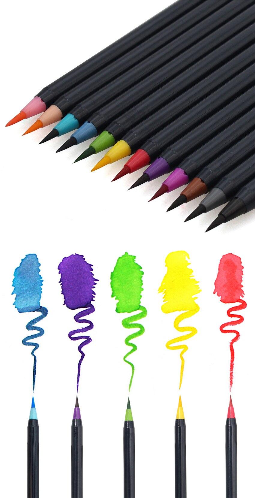 não tóxica desenho suprimentos marcadores do artista escova caneta
