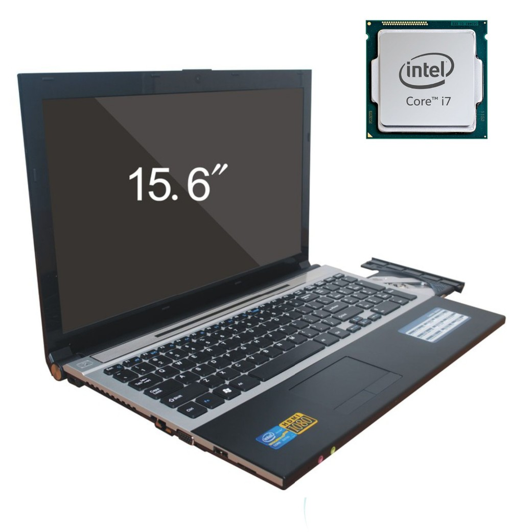 8G DDR3+2000G HDD game Laptop 15.6 inch Intel Core i7 Dual-core Windows 10 Notebook Computer with Built-in WIFI Bluetooth DVD-RW 13 3 inch core i7 5th generation cpu backlit laptop computer with 8g ram 256g ssd webcam wifi bluetooth windows 10