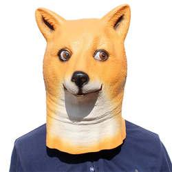Новинка 2019 года Домашние животные собака маска милые животные унисекс маска мода латексная маска Хэллоуин украшения реквизит голова Чехлы
