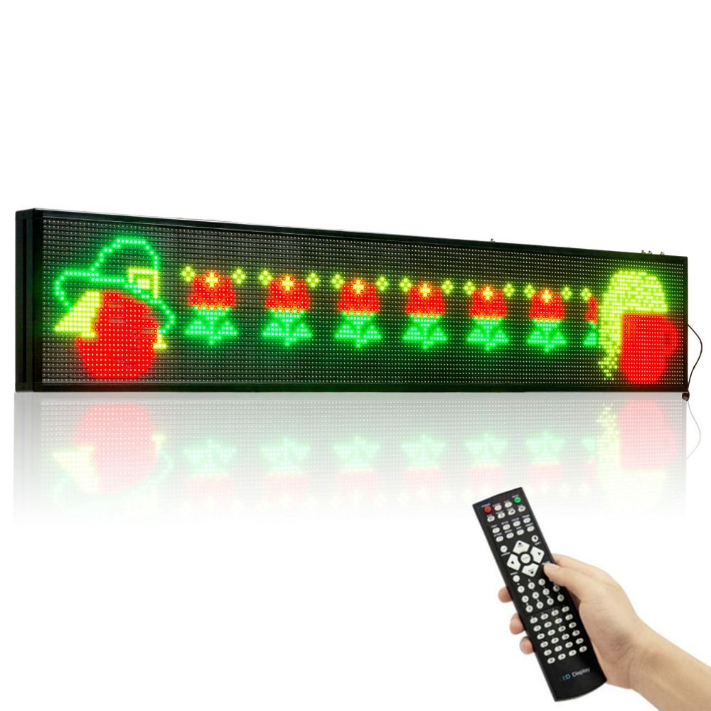 58.6x10.7 Animated GIF RGB SMD Remote Control LED Sign 7Color Programmable Scrolling Indoor window Message led Display Open 58.6x10.7 Animated GIF RGB SMD Remote Control LED Sign 7Color Programmable Scrolling Indoor window Message led Display Open
