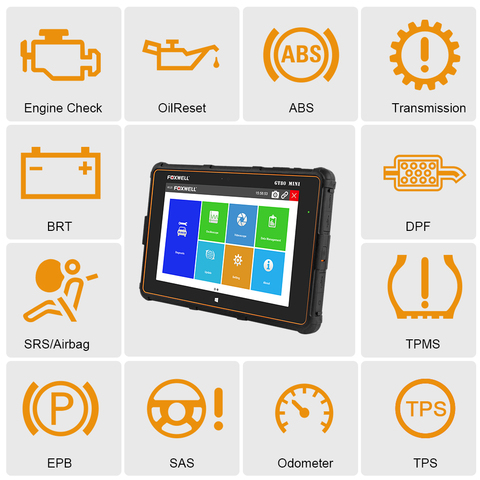 FOXWELL GT80 Mini Full System OBD OBD2 Car Diagnostic Tool Injector Coding DPF Airbag SRS ABS TPMS Reset Auto Automotive Scanner Lahore
