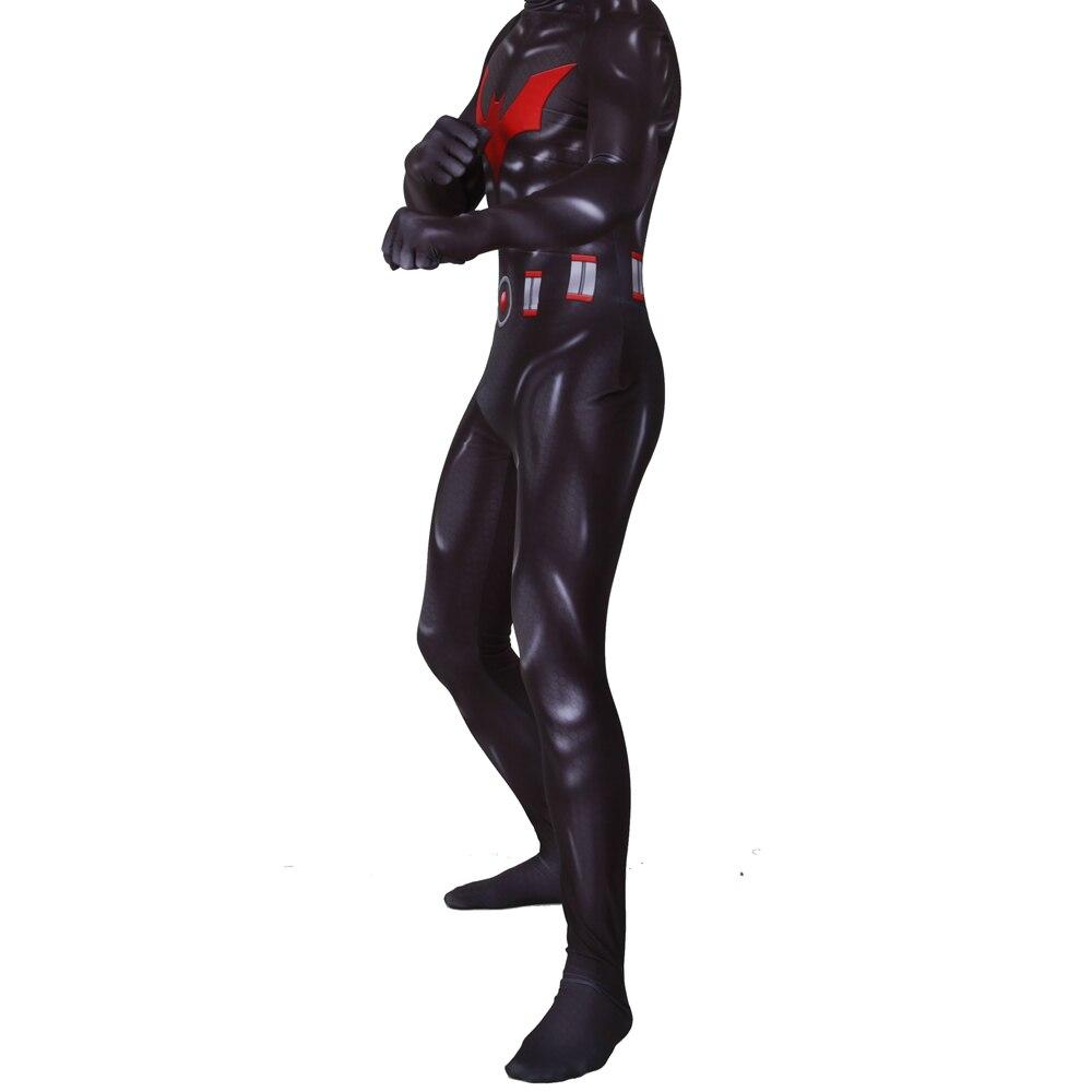 Batman Beyond Spiderman Costume Peter Parker Cosplay Zentai Jumpsuit Outfit Suit