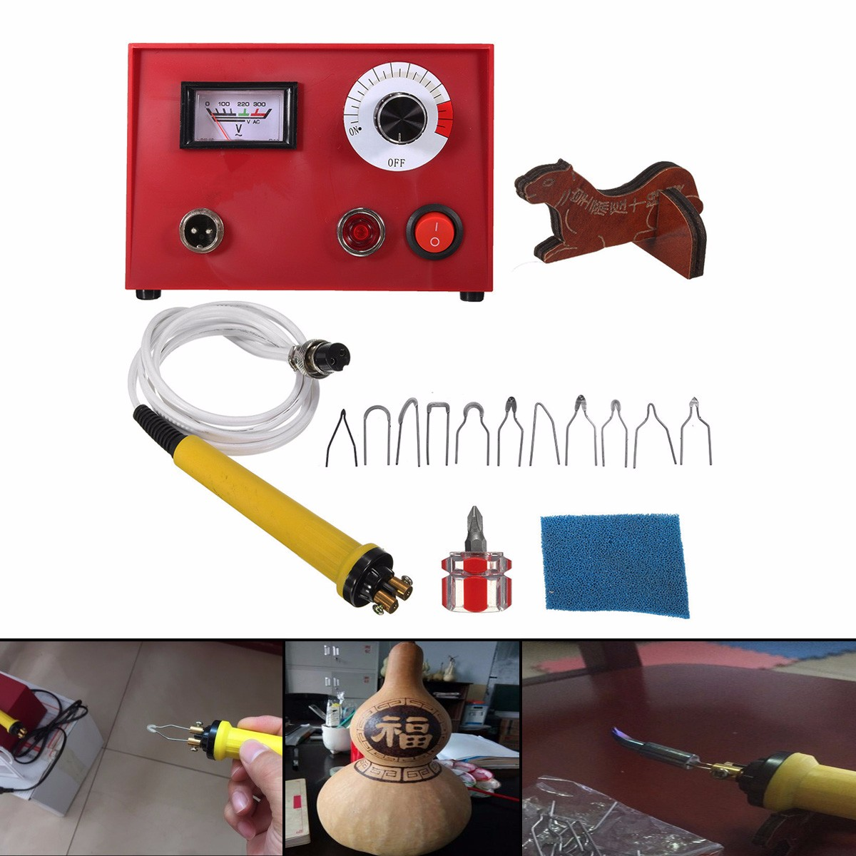 50W 220V AC DIY Craft Multifunction Pyrography Machine with 1Pc Pyrography Pen Copper Heating Solder Tip Gourd Wooden Tool Set50W 220V AC DIY Craft Multifunction Pyrography Machine with 1Pc Pyrography Pen Copper Heating Solder Tip Gourd Wooden Tool Set