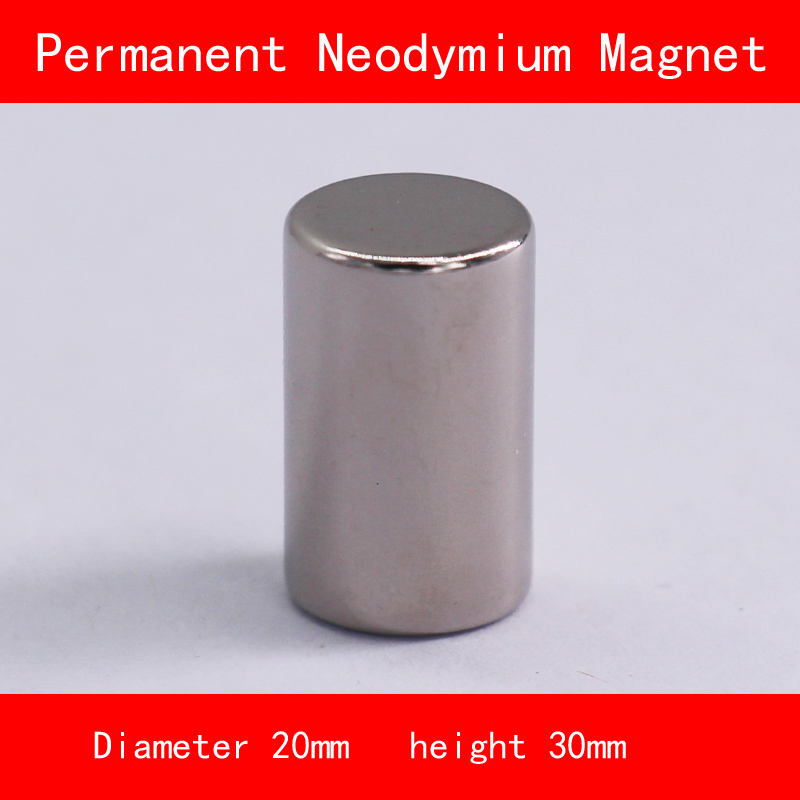 cylinder Magnet diameter 20mm height 30mm n35 Rare Earth strong NdFeB permanent Neodymium Magnet cylinder