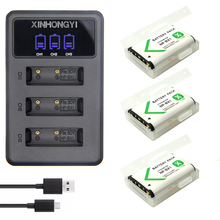 3x NP-BX1 Battery NP BX1 + LED 3-Slots USB Charger for Sony DSC RX1 RX100 AS100V M3 M2 HX300 HX400 HX50 HX60 GWP88 AS15 WX350 цена 2017