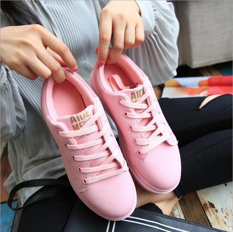 Hot 2017 Fashion Flats Mujeres Entrenadores zapatos Respirables Del Deporte Zapa