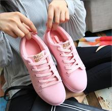Hot 2017 Fashion Flats Mujeres Entrenadores zapatos Respirables Del Deporte Zapatos de Mujer Caminando zapatillas de Skate Casuales Mujeres Pisos Blanco Rosa Zapatillas Mujer