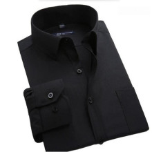 Spring Autumn Men's Dress Shirt Long Sleeve Cotton Business Formal Slim Fit Black color Social Shirts high quality custom