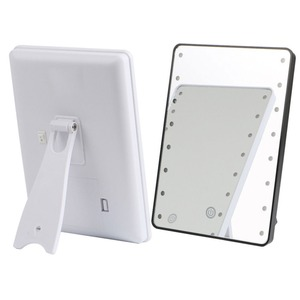 Image 3 - RUIMIO Makeup Mirror with 8/16 LEDs Cosmetic Mirror with Touch Dimmer Switch Battery Operated Stand for Tabletop Bathroom Travel