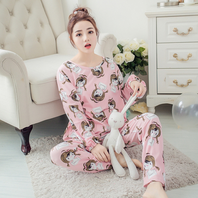 New Listing Hot Sale Autumn Pyjamas Women Carton Cute Pijama Pattern Pajamas Set Thin Pijama Mujer Sleepwear Pajama Wholesale