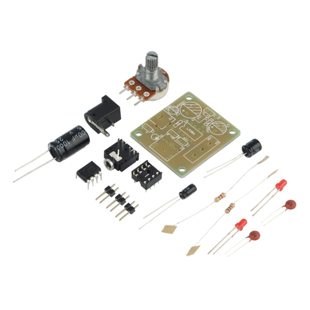 Hot New 1pcs DIY Electronic Kit LM386 Super Mini Amplifier Board Module 3V-12V DIY Kit Perfect Audio Amplifier Module Board