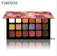 VERONNI new 18 color eyeshadow matte pearl sunset makeup eye shadow disc