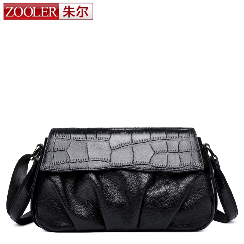 ZOOLER Hot Sale Women Genuine Leather Small Bag Popular Fashion Brand Design Clutch High Quality Real Cowskin Shoulder Bag Bag zooler genuine leather genuine real cowhide small handbags high quality brand women plaid shoulder bags chain tote crossbody bag