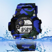 SYNOKE Luxury Brand Mens Watches Military Army 30m Waterproof Swimming Sport Mens Watch G Style Digital