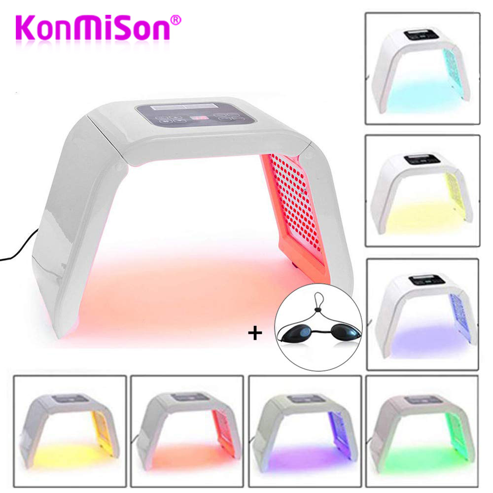 Beauty Photon LED Facial Mask Therapy 7 Colors Light PDF Skin Care Rejuvenation Wrinkle Acne Removal Face Beauty Spa Treatment