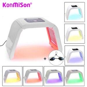 Image 1 - 7 цветов светодиодный портативный Фотон для лица, омоложение кожи, омоложение, лечение, тонизирование кожи, уход за кожей лица, устройство для масок