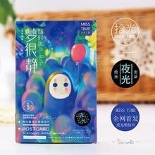 30 pcs/pack Cute No Face Man Luminous Greeting Card Postcard Birthday Gift Card Set Message Card