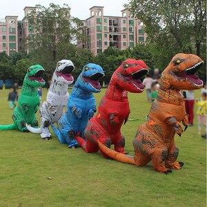 Image 2 - T rex dinosaure aufblasbare kostüm deguisement halloween gießen animaux cosplay maskottchen kostüm dinosaure