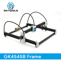 GKTOOLS 45 45cm DIY Wood Mini CNC Laser Engraver Cutter Engraving Machine Frame Without Laser White
