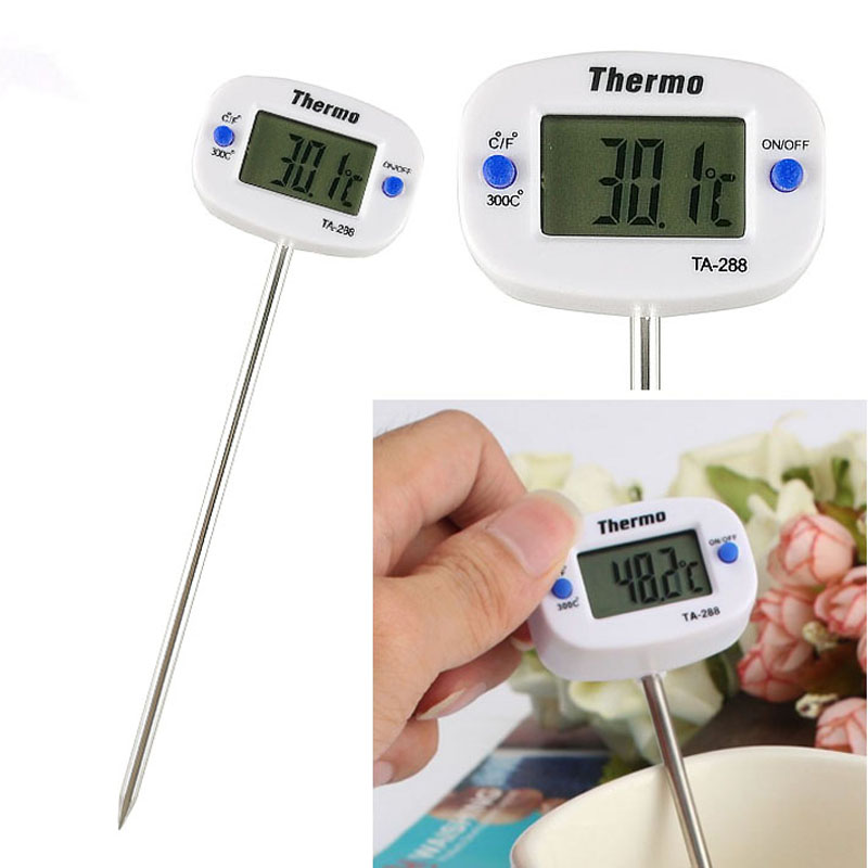 Digital Kitchen Thermometer For Food Milk Water Oil Stainless Steel Probe BBQ Meat Cooking Thermometer Kitchen Tools(-50-300 C)