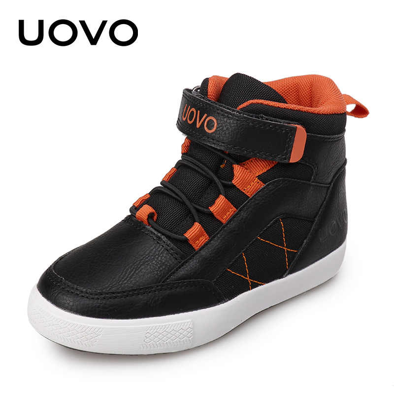 UOVO 2019 New Autumn Winter Kids Walking Shoes Fashion Boys Casual Shoes Children Warm Comfortable Sneakers Sizes 28#-37#