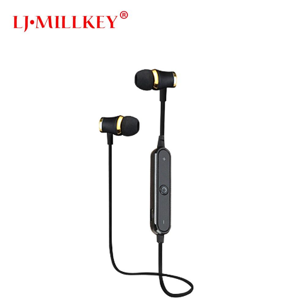 S6 Bluetooth V4.1 Écouteurs Fone De Ouvido Bluetooth Casque Sans Fil Intra-auriculaires Sport Casque Pour Mobile Téléphone LJ-MILLKEY LZ001
