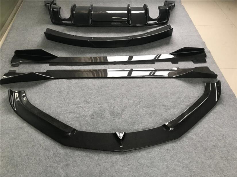 Карбоновый автомобильный передний бампер для губ + СПОЙЛЕР + задний диффузор багажника + боковое биди покрытие для сплиттера для Chevrolet Camaro 2017