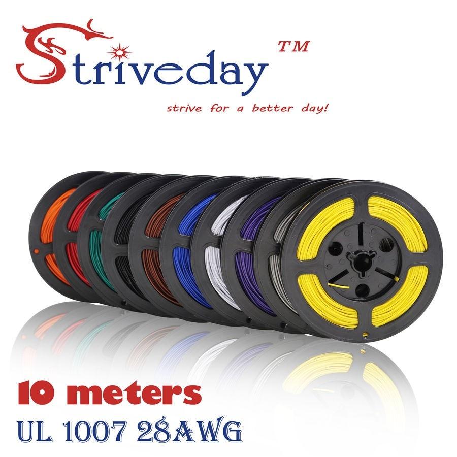 10 Meter 28AWG Draht UL1007 Kabel Elektrischen Leitungen 1,2mm ...