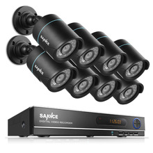 Sannce HD 5 в 1 1080n 8ch DVR 720 P ИК-камер видеонаблюдения Главная видеонаблюдения Системы
