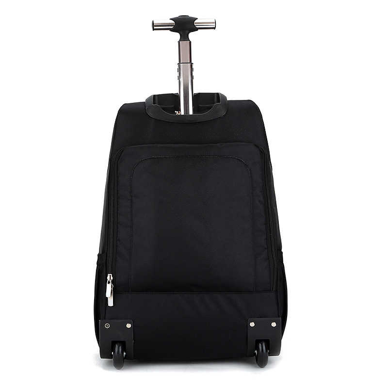 Tas Travel Pria Troli Ransel Pria Poliester Ransel Tas Tahan Air Komputer Packsack Merek Desain Ransel