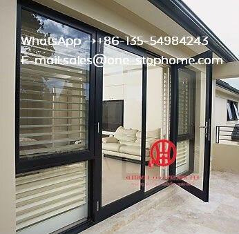 Métal aluminium Kerala Lowes pas cher accordéon portes pliantes, extérieur insonorisé Transparent verre Bi porte pliante