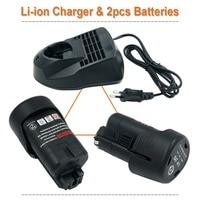 AL1115CV Bosch Replacement Charge + 2PCS 10.8V 2.0Ah Li ion Power Tools Battery For Bosch BAT411 2 607 336 013, 2 607 336 014,