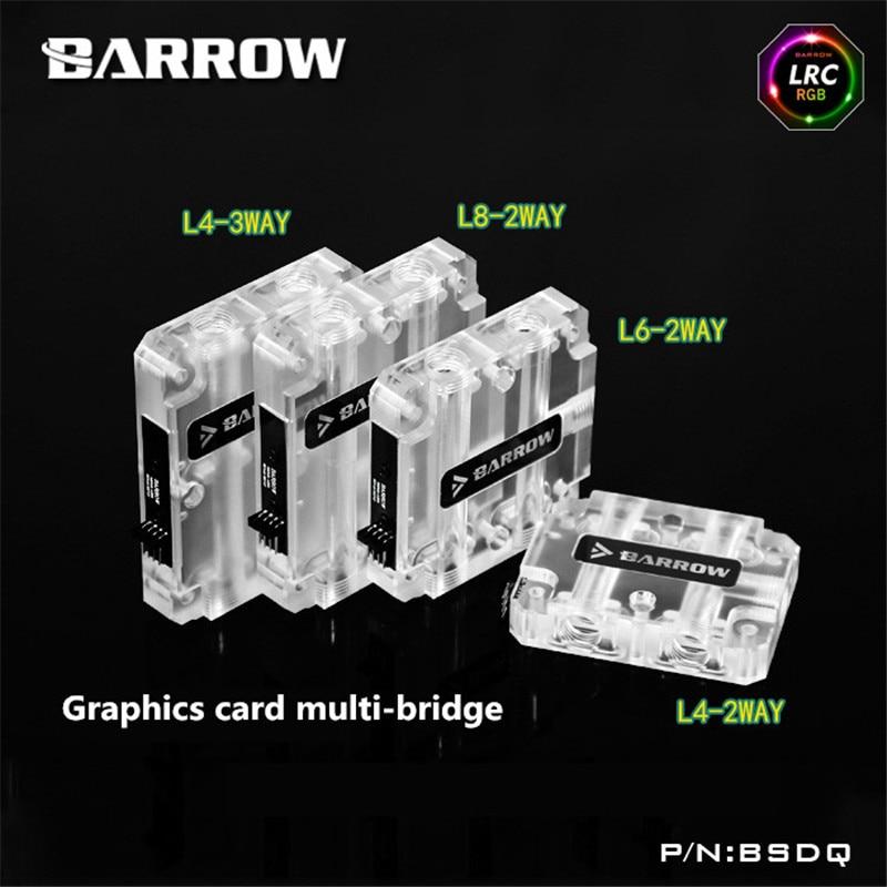 Barrow graphics card multi - card multi - card upper water bridge SLI built-in RGB unmarried motherhood in barrow