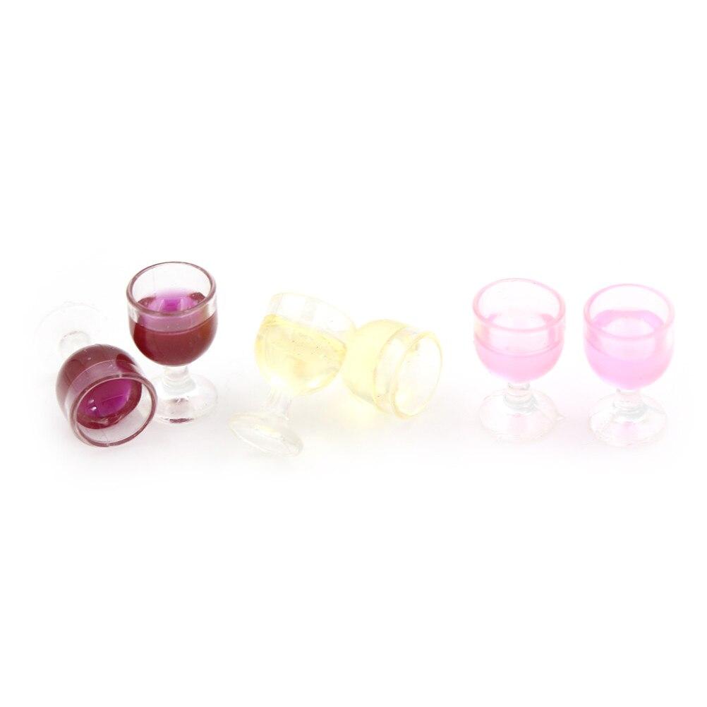 2Pcs 1:12 Dollhouse miniature resin cocktail cup simulation wine glass model JB